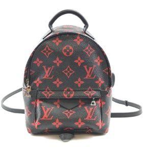 Palm Springs Shoulder Bag Black Red Backpack